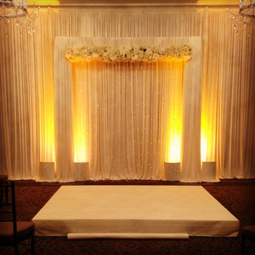 Waldorf Astoria Wedding Backdrop